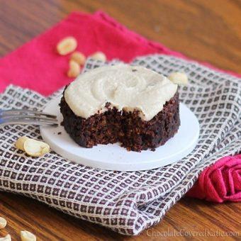 Chocolate Peanut Butter Cake in a Mug