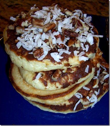 German Chocolate Pancakes