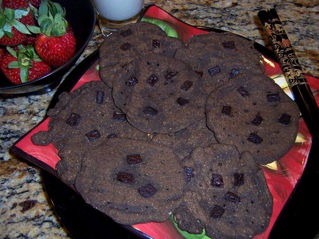 chocolate spinach pancakes