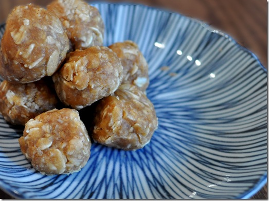 3 ingredient oatmeal peanut butter balls
