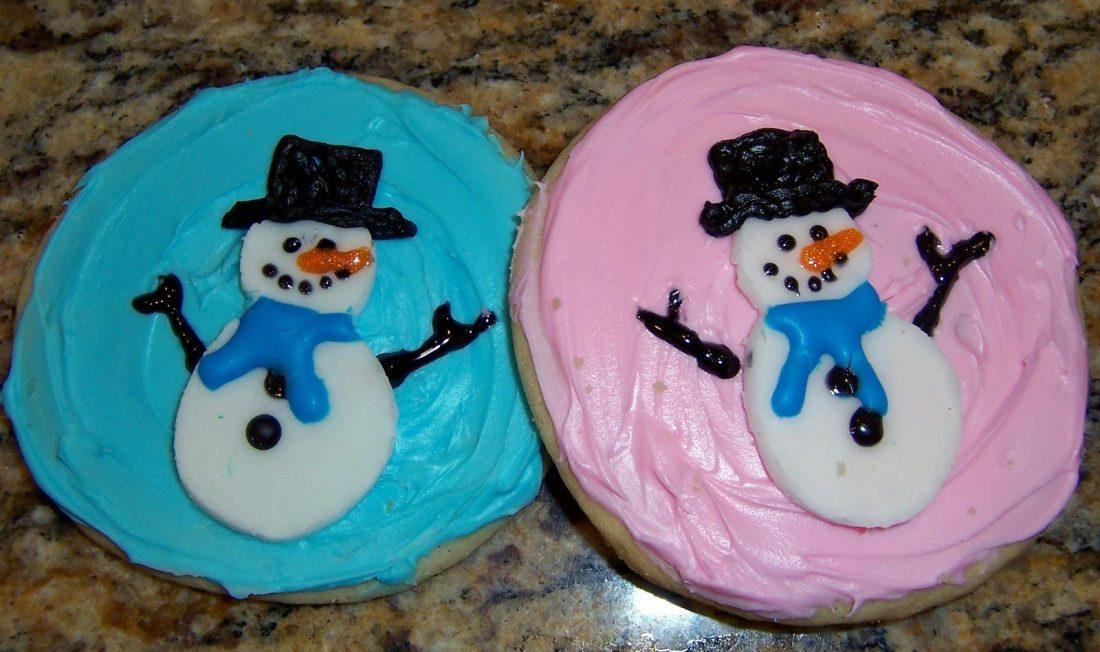 fondant snowmen