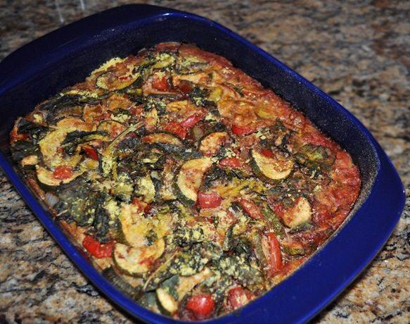 polenta nutritional yeast casserole