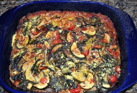 vegan polenta casserole