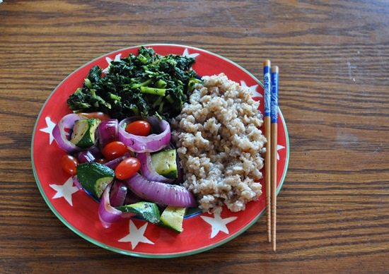 grilled veggie salad vegan