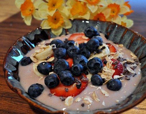 strawberry vegan greek yogurt