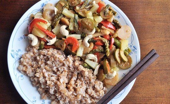 cashew ginger stir fry