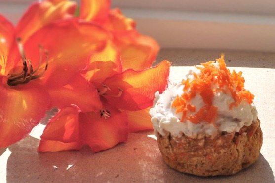 vegan carrot cupcake