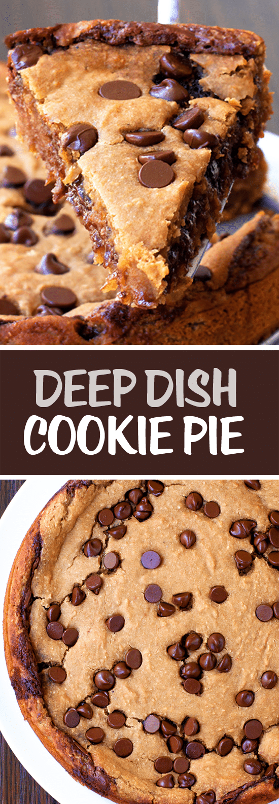 Secretly Healthy Deep Dish Cookie Pie Recipe (Vegan)
