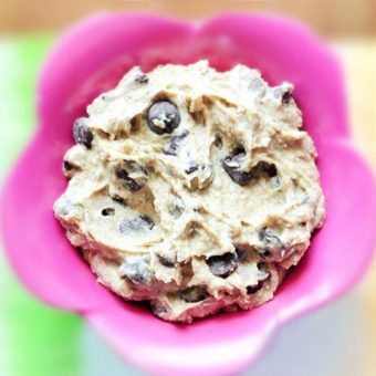 I tried this and was shocked... it really does taste exactly like eating chocolate chip cookie dough! (350k + repins) https://chocolatecoveredkatie.com/2011/05/23/want-to-eat-an-entire-bowl-of-cookie-dough/ @choccoveredkt