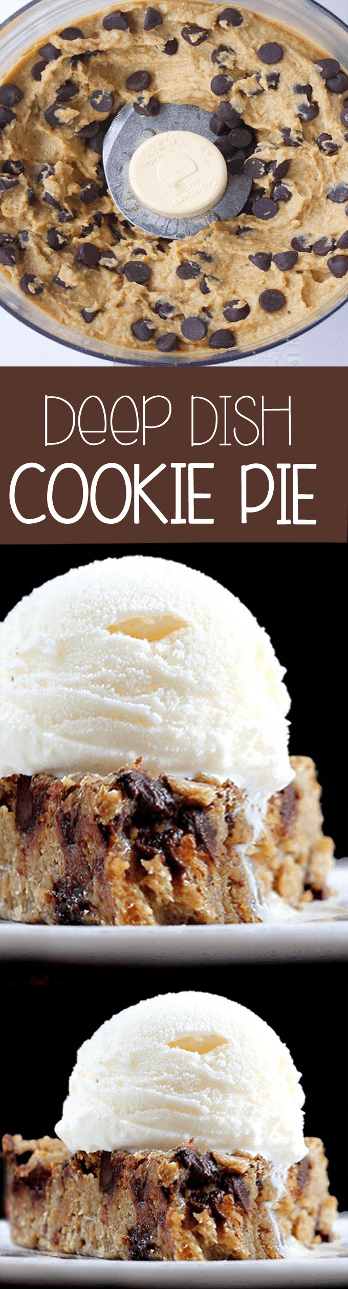 Deep Dish Cookie Pie – One of our favorite recipes! It tastes like eating a giant homemade chocolate chip cookie!… Recipe, as featured on ABC News: @choccoveredkt http://chocolatecoveredkatie.com