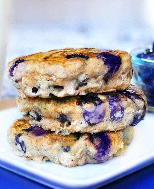 Blueberry Pie Pancakes - SUPER ginormous fluffy blueberry pancakes recipe... with over 200 positive reader reviews - from @choccoveredkt: http://chocolatecoveredkatie.com/2011/06/09/blueberry-pie-pancakes/