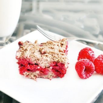 Raspberry Cobbler Bars