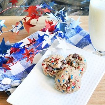 Patriotic Cookie Dough Balls