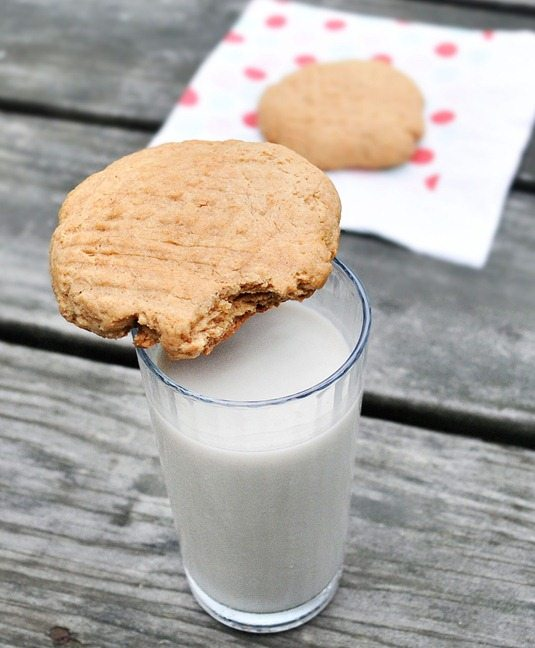 peanut butter cookie for one! http://chocolatecoveredkatie.com/2011/07/26/single-serving-peanut-butter-cookies/