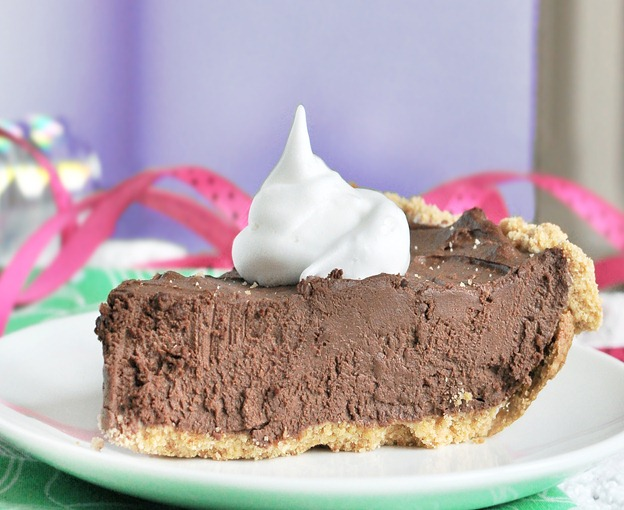 Don't let the healthy ingredients fool you! This rich chocolate pie is so luxurious and so decadent it turned even my health-food-hating boyfriend into a believer. I swear by the recipe for parties and holidays... It does not disappoint! Full recipe: https://chocolatecoveredkatie.com/2011/09/06/the-ultimate-chocolate-fudge-pie/