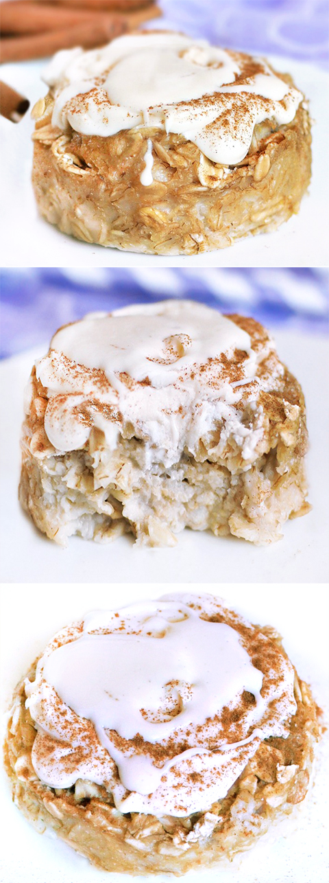 Cinnamon Roll Baked Oatmeal Recipe