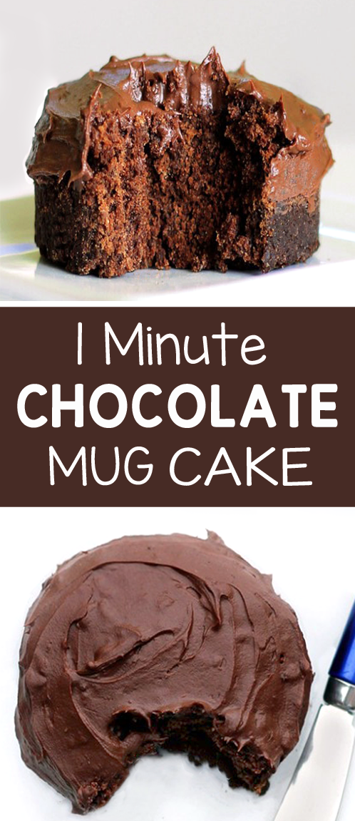 One Minute Chocolate Cake In A Mug Recipe