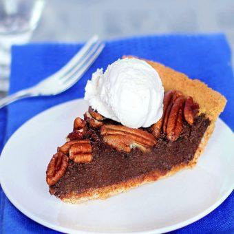 Secretly Vegan Chocolate Pecan Pie