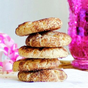 Skinny Snickerdoodles - vegan and secretly good for you, they melt in your mouth https://chocolatecoveredkatie.com/2011/11/08/skinny-snickerdoodles/ @choccoveredkt