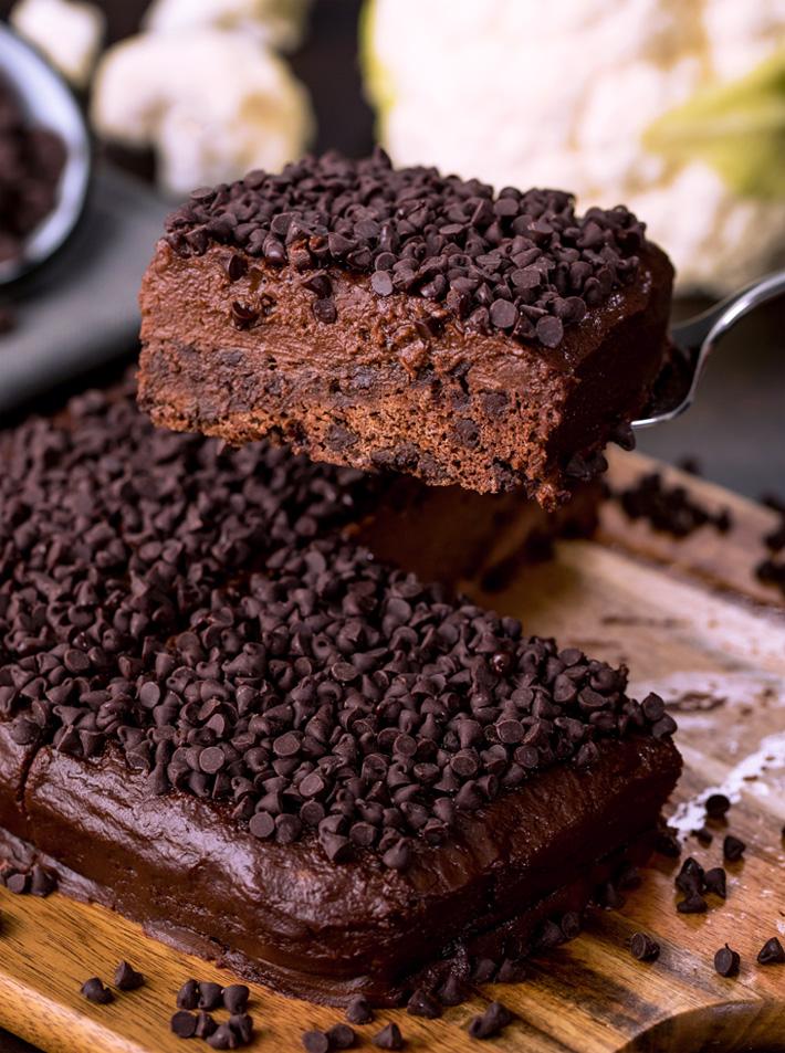 Healthy Chocolate Cake With A Secret Ingredient Cauliflower