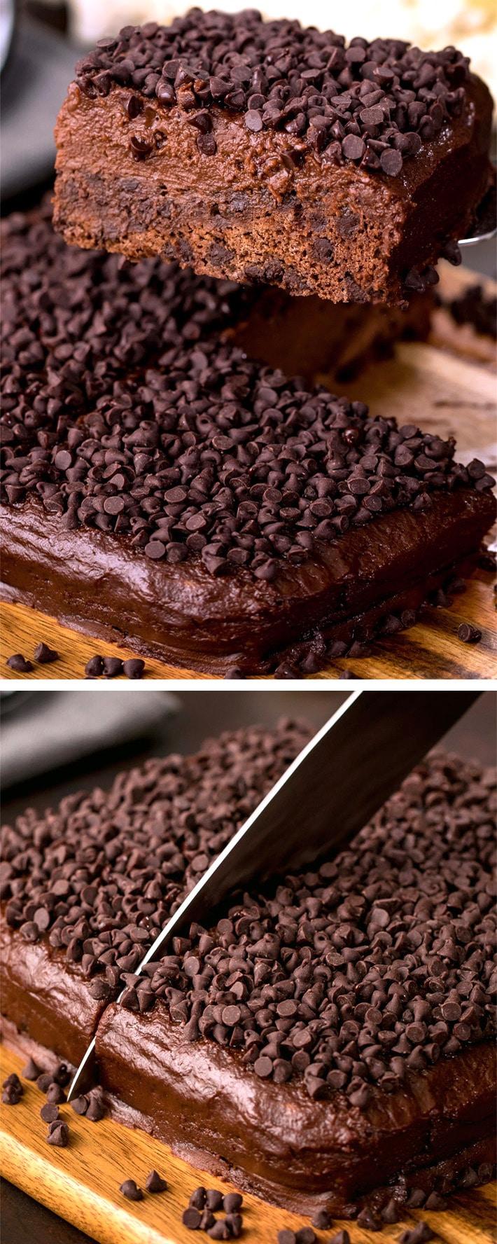 Secretly Healthy Chocolate Cake Recipe (Vegan, Made With Cauliflower)