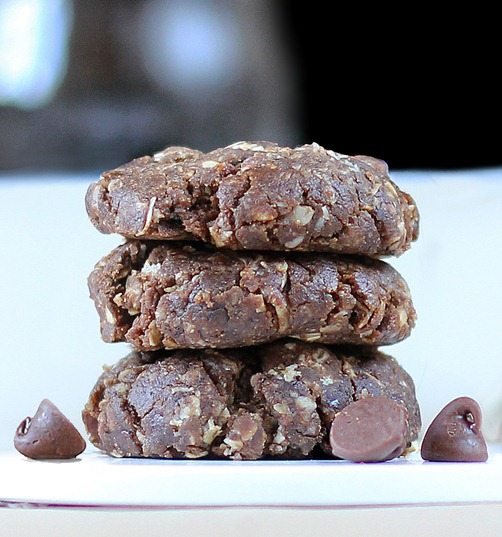 Easy #nobake chocolate cookies - VERY addictive - We couldn't stop eating them! http://chocolatecoveredkatie.com/2012/07/10/no-bake-mocha-chocolate-chip-cookies/ @choccoveredkt