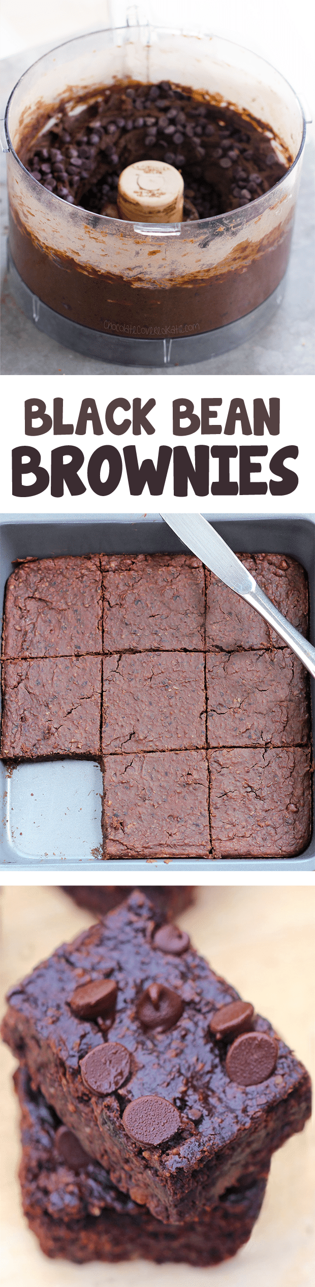 Flourless Black Bean Brownies - Rich, FUDGY better-than-boxed brownies, one of the most popular recipes I've EVER made! @choccoveredkt https://chocolatecoveredkatie.com/2012/09/06/no-flour-black-bean-brownies/