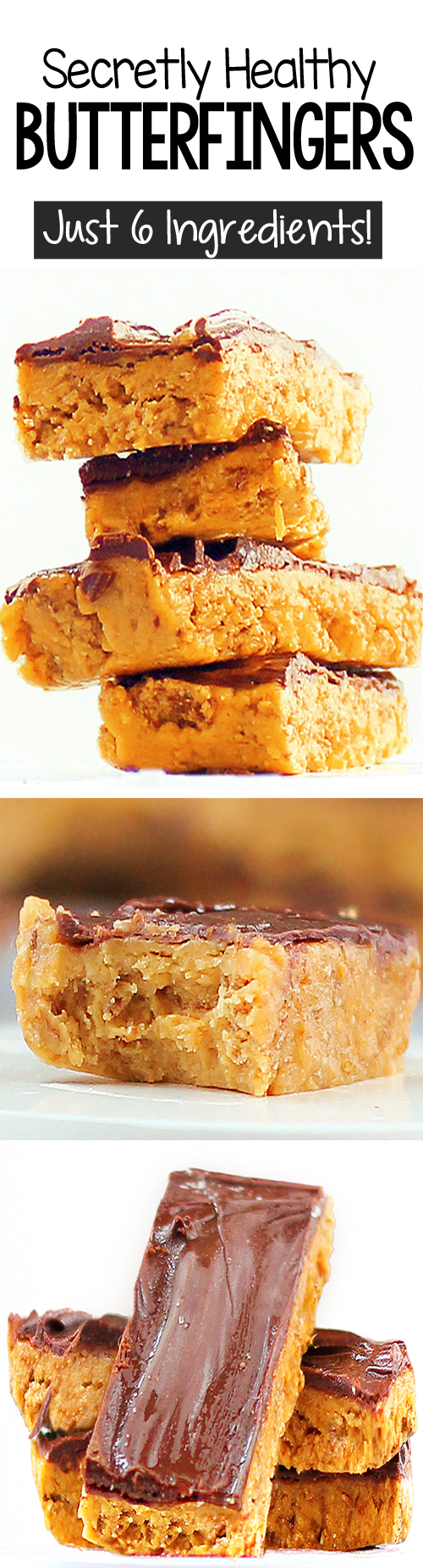 Secretly Healthy Butterfinger Bars (Vegan, Easy, Homemade Candy Bars)