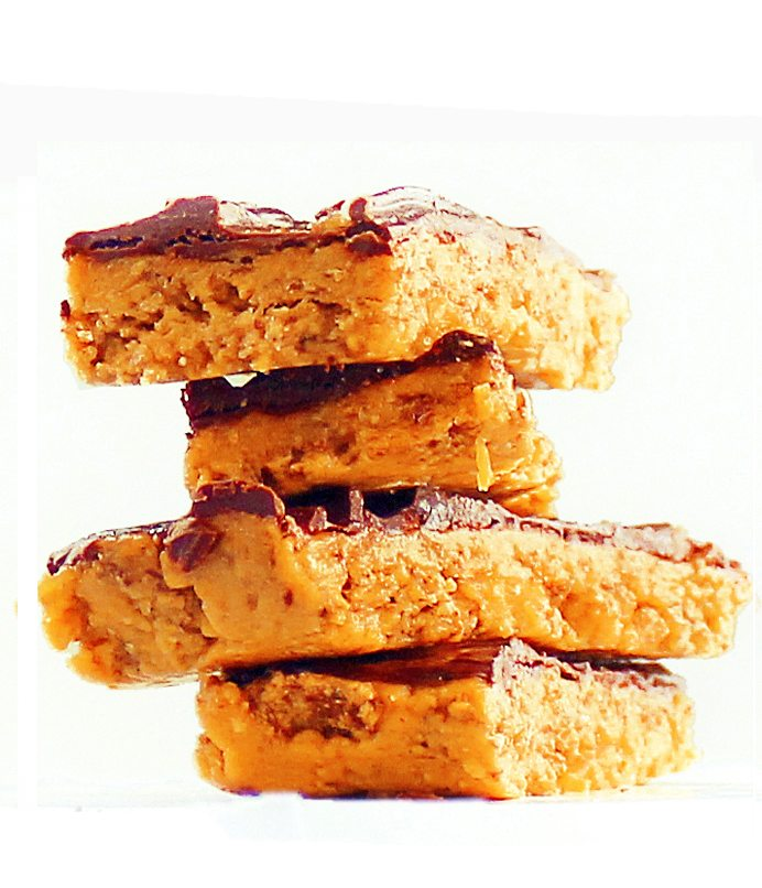 healthy vegan butterfingers candy bars