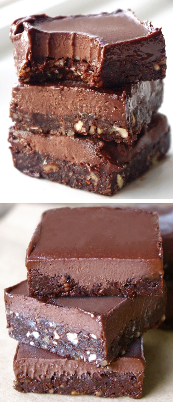 Secretly Healthy No Bake Chocolate Fudge Bar Recipe