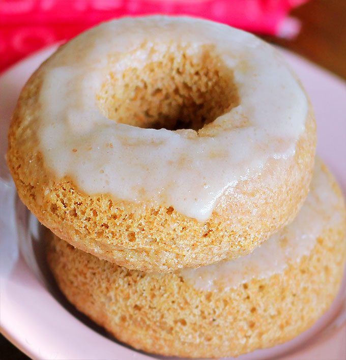 Healthy Krispy Kreme Donuts - 1 cup flour, 1 tsp vanilla extract, 1 1/2 tsp baking powder, 1/3 cup... Full recipe: http://chocolatecoveredkatie.com/2013/02/22/homemade-krispy-kreme-doughnuts-the-healthy-version/ @choccoveredkt