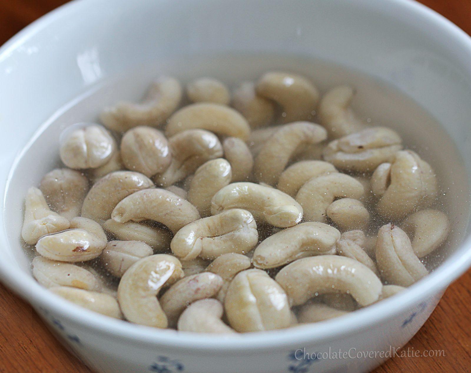 soak cashews