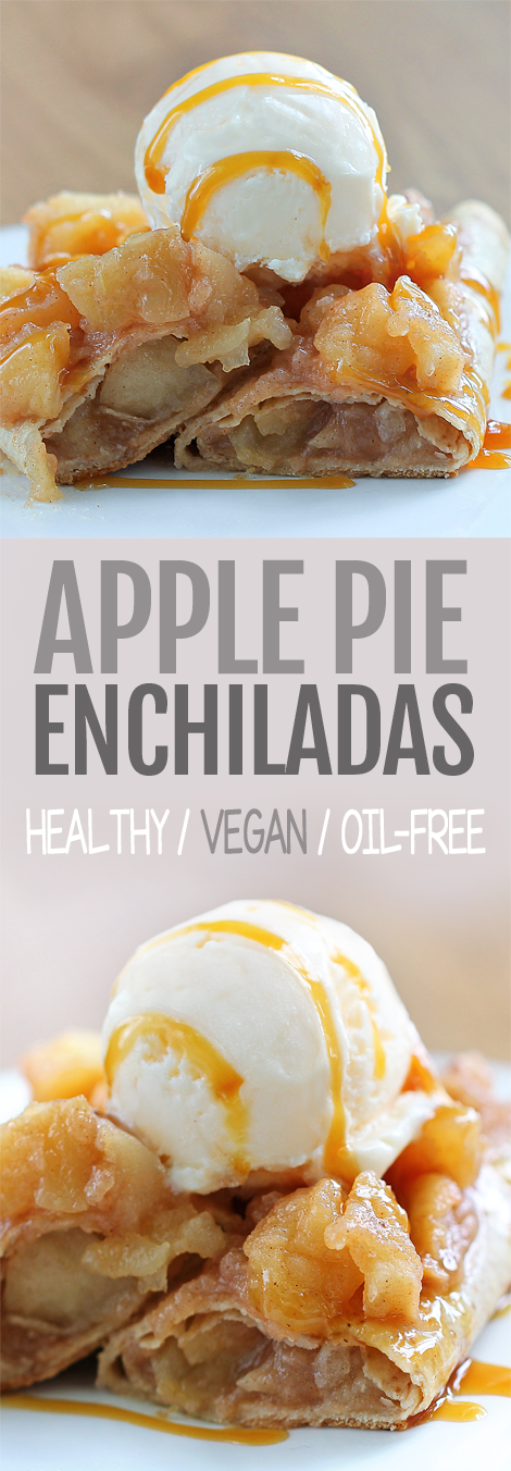 8 Ingredient Breakfast Apple Pie Enchiladas - these are SO good!