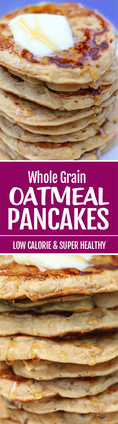 The BEST Oatmeal Pancake Recipe, with whole grain oats and they are vegan too