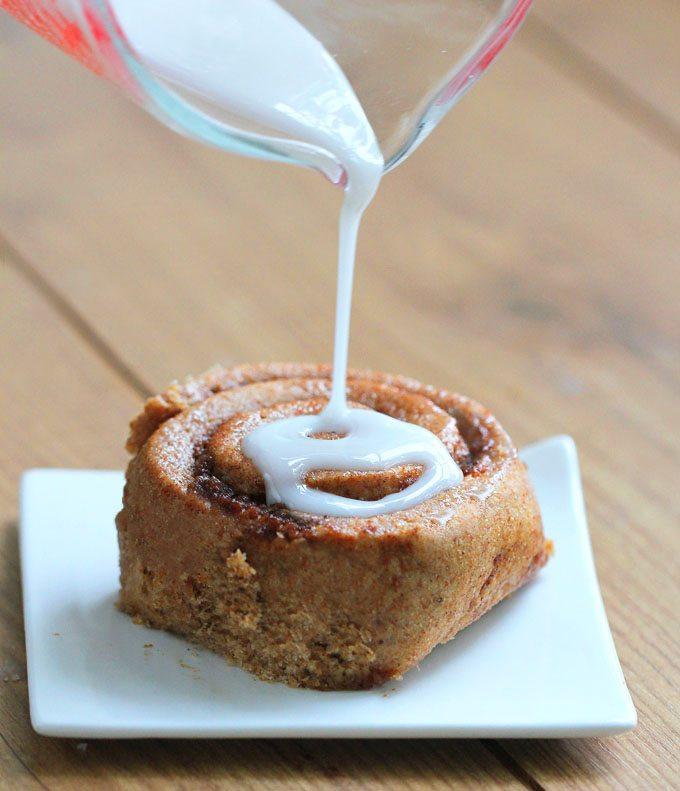 Vegan Pumpkin Cinnamon Rolls - Ingredients: 1 cup pumpkin, 2 tsp vanilla extract, 2 tbsp baking powder, 1/4 cup... Full recipe: https://chocolatecoveredkatie.com/2013/10/22/pumpkin-cinnamon-rolls/ @choccoveredkt