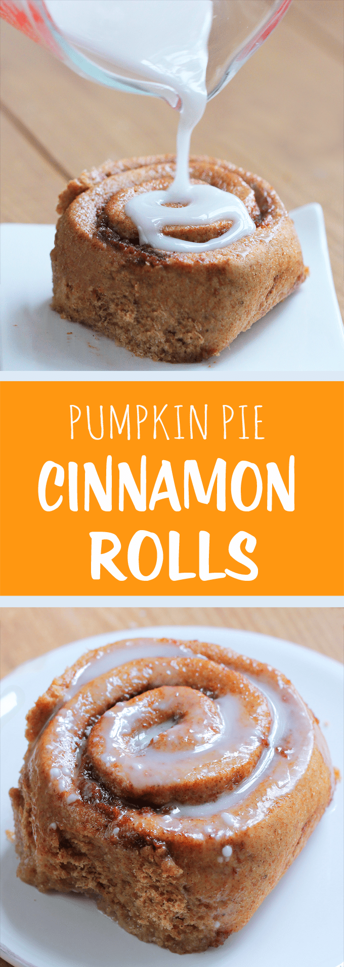 Pumpkin Cinnamon Rolls - Ingredients: 1 cup pumpkin, 2 tsp vanilla extract, 2 tbsp baking powder, 1/4 cup... Full recipe: https://chocolatecoveredkatie.com/2013/10/22/pumpkin-cinnamon-rolls/ @choccoveredkt