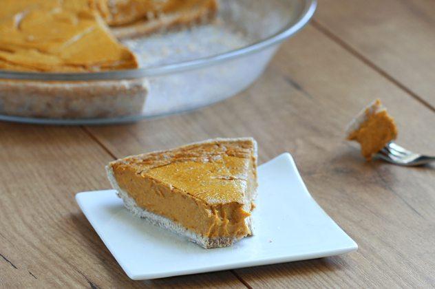 Healthy Pumpkin Pie - The creamiest pie you'll ever taste!