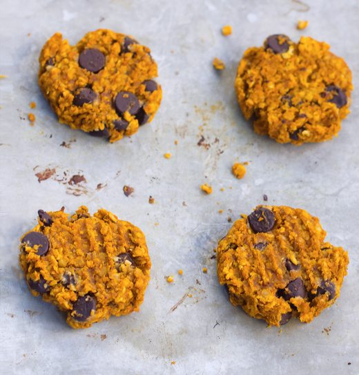 pumpkin chocolate chip cookies healthy
