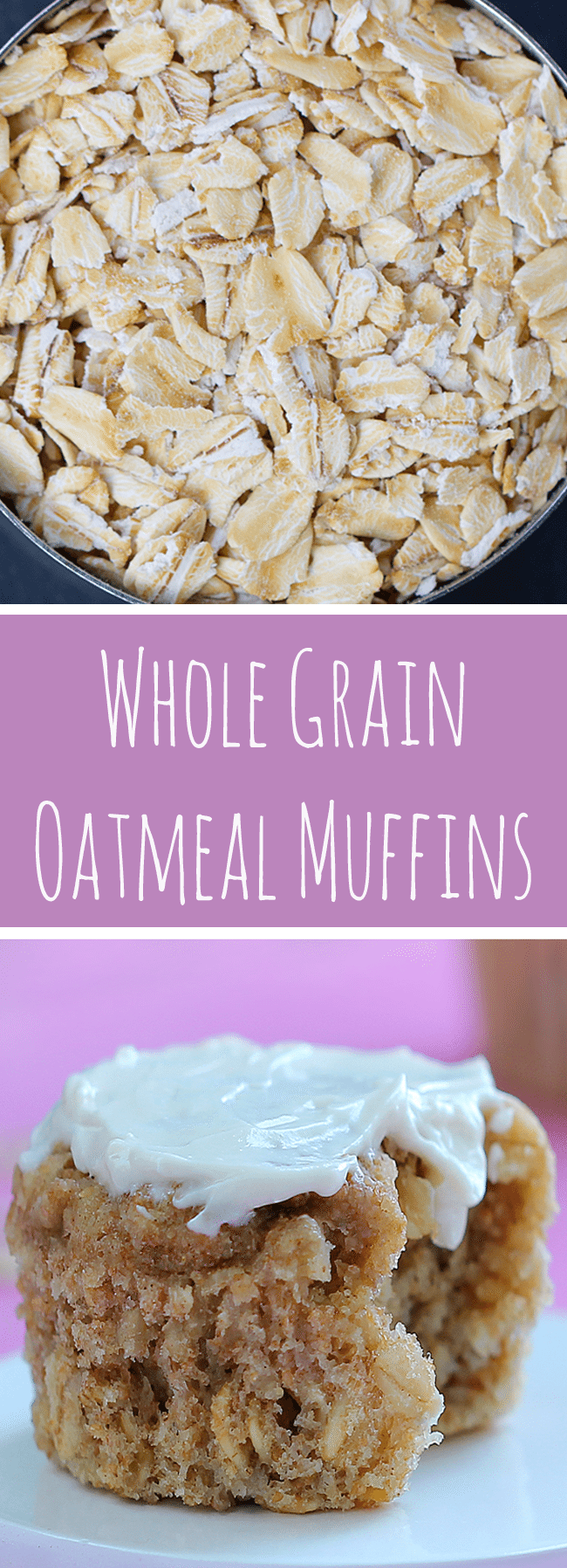 Oatmeal Muffins - Ingredients: 1 1/2 cups rolled oats, 1 tsp baking powder, 1/2 tsp cinnamon, 2 tsp vanilla, 1/4 cup... Full recipe: https://chocolatecoveredkatie.com/2014/01/06/oatmeal-muffins/ @choccoveredkt