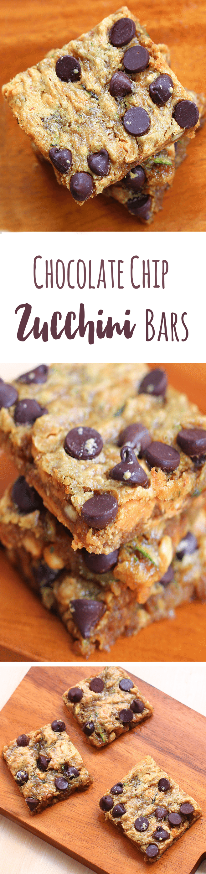 Chocolate Chip Zucchini Bars - Ingredients: 1 cup zucchini, 1/4 cup chocolate chips, 2 tsp vanilla, 1/2 tsp baking soda, 1 tbsp... Full recipe: https://chocolatecoveredkatie.com/2014/11/03/chocolate-chip-zucchini-bars/ @choccoveredkt