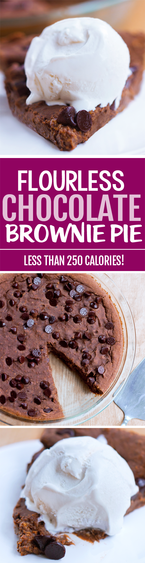 Chocolate brownie pie with NO flour, and a secret healthy ingredient you'd never expect: black beans!