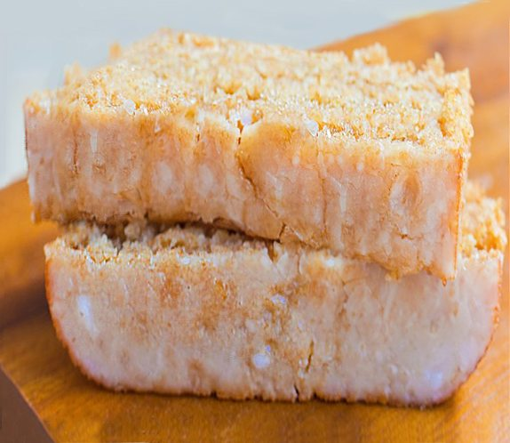 Soft and MOIST lemon cake, just as good as Starbucks, without all the sugar and calories. (This recipe is really good for breakfast) http://chocolatecoveredkatie.com/2015/03/24/starbucks-lemon-cake-healthy/ @choccoveredkt