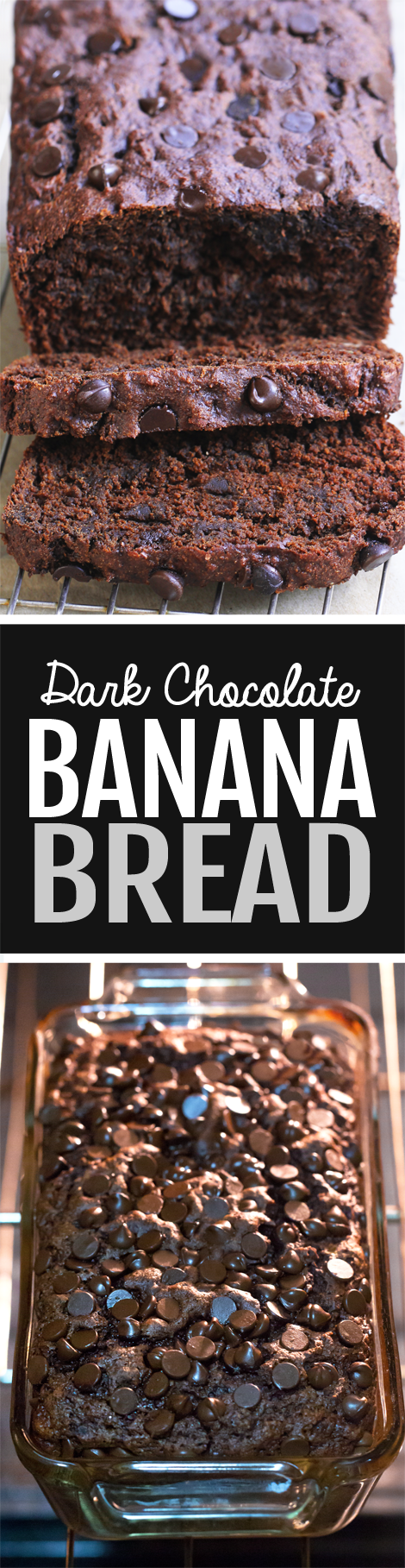 Dark Chocolate Banana Bread Recipe