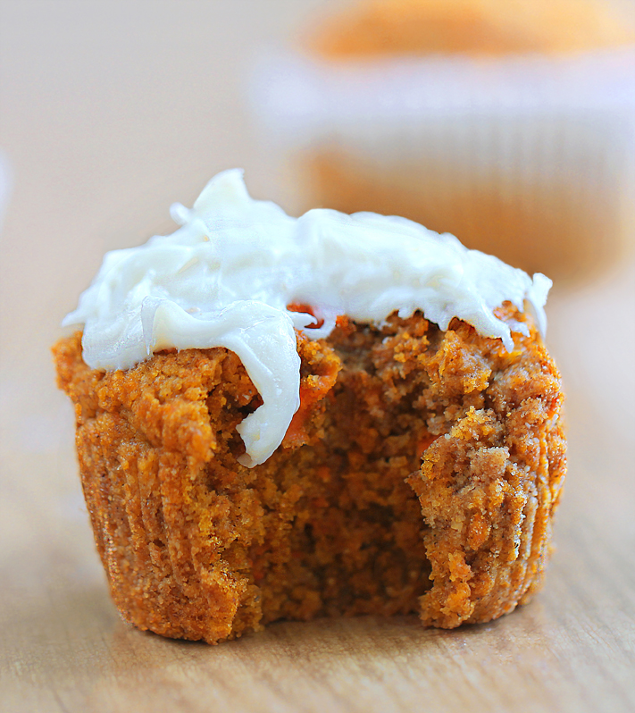Healthy Carrot Cake Cupcakes Recipe