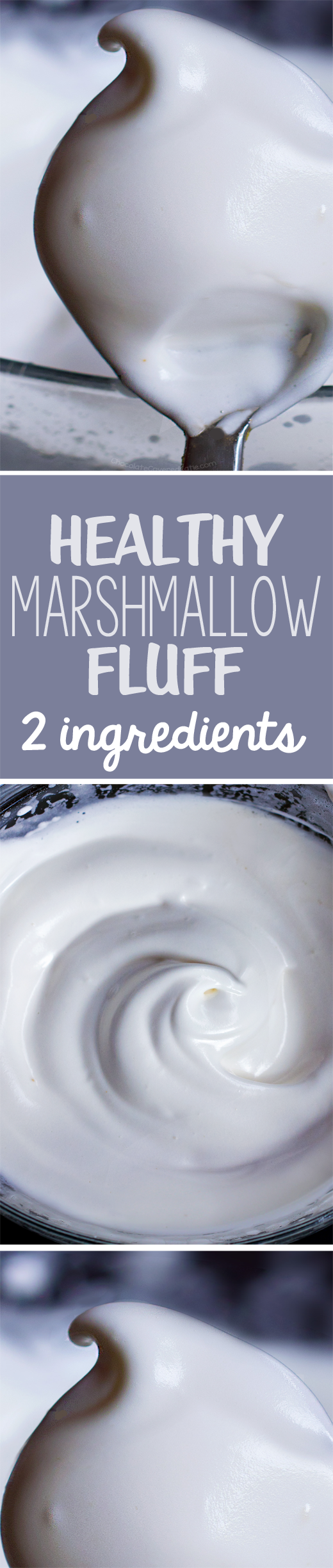 You will NEVER believe the 2 ingredients that make this healthy marshmallow fluff... it is insane that this actually works! https://chocolatecoveredkatie.com/2015/04/30/healthy-vegan-marshmallow-fluff/