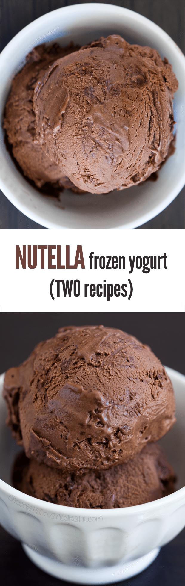 Nutella Frozen Yogurt - Two Recipes!
