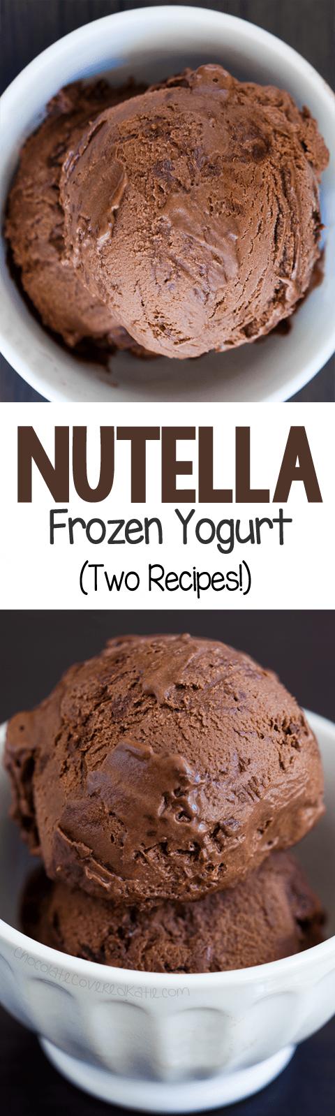 Ultra CREAMY Nutella Frozen Yogurt!