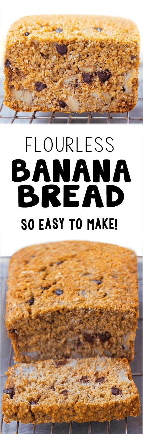 The Best Easy Flourless Banana Bread Recipe