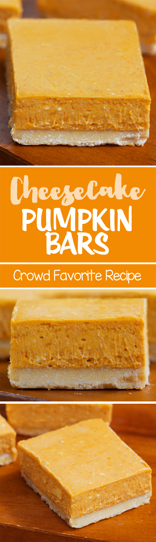 These pumpkin cheesecake bars are a real crowd pleaser, and they're easy to make!
