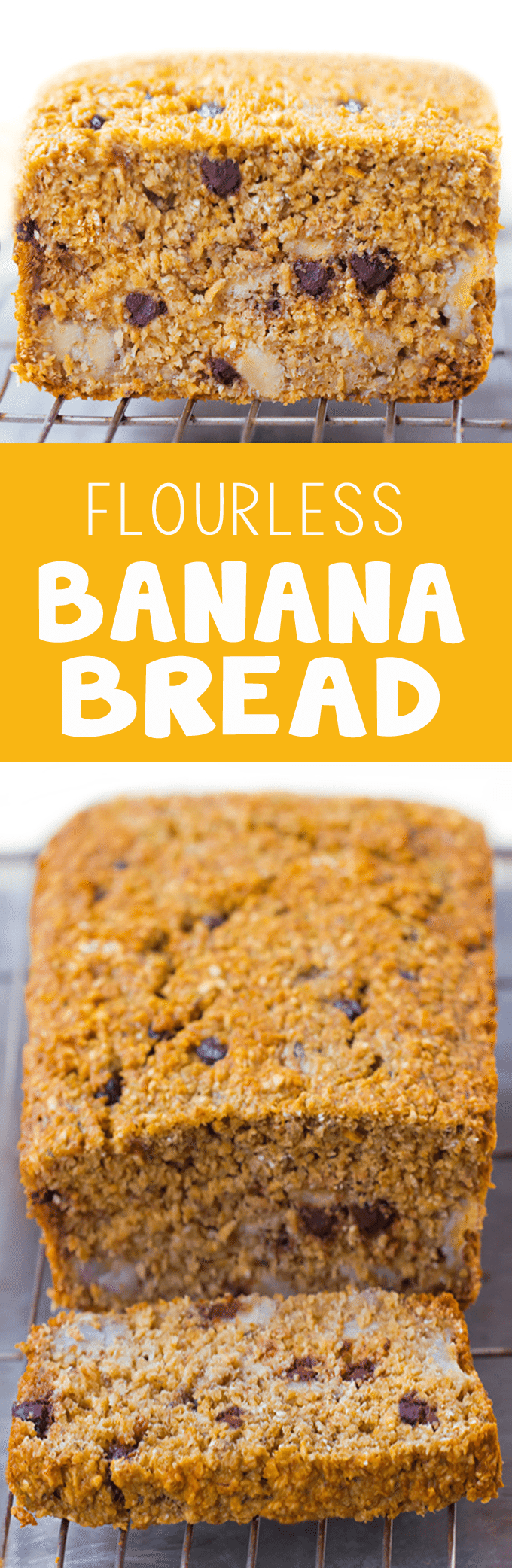 Flourless Banana Bread - 2 cups mashed banana, 1 cup oats, 1/2 tsp baking soda, 3 cups... https://chocolatecoveredkatie.com/2015/09/28/flourless-banana-bread-recipe/ @choccoveredkt